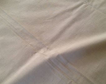 Beige color cotton, wrinkle resistant,  2 1/4 yards long, 42 inches wide,