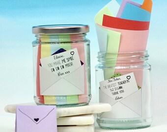 Personalised Message Jar