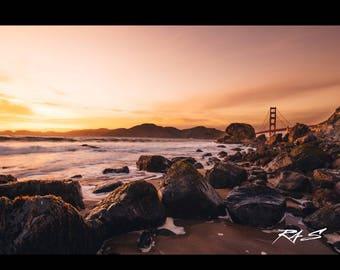 Limited Edition San Francisco Metal Wall Art Photography / Meta Wall Decor / Coastal Decor / Metal Photo Print / Fine Art Metal Print
