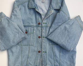 Vintage 1990s 90s Hip Hop Cross Colours Jean Jacket