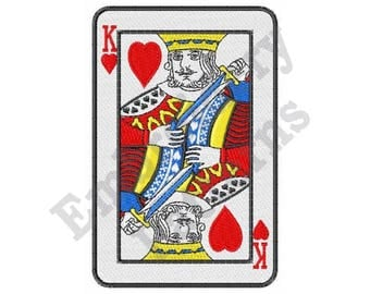 King Of Hearts - Machine Embroidery Design