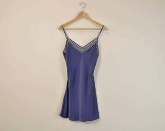 Silk Slip Dress, Vintage 90s Slip, Purple Silk Slip, Victoria's Secret Slip, Vintage Silk Nightgown, Lingerie Slip, Loose Silk Nightie
