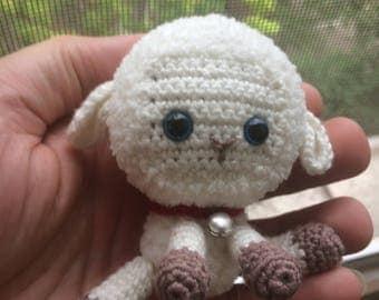 Crochet lamb, Crochet baby, White sheep crochet, Animal toy, White knitted lamb, Crochet sheep, Crochet toy, Tiny lamb, Stuffed animal lamb