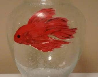 Betta fish vase, Siamese fighting fish