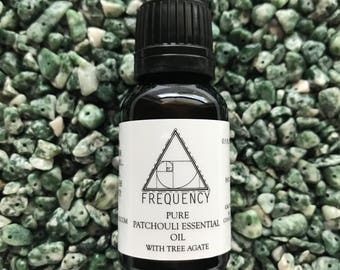 Patchouli Pure Essential Oil with Tree Agate