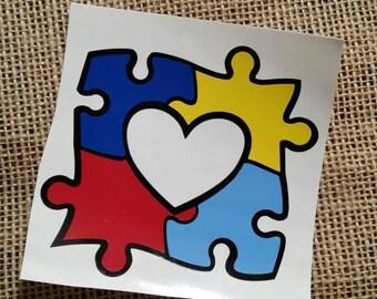 Autism Awareness, Austism Awareness Heart, Austism Heart, Puzzle Piece, Puzzle Heart