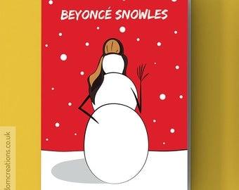 Beyonce Christmas Card - Beyoncé Snowles - Beyoncé Card