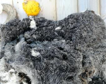herdwick raw fleece 1.2 kg spinning wool herdwick felted, weaving fleece, spinning fleece, raw wool herdwick, British breed wool, elf kendal