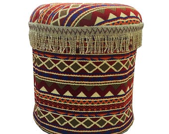 Round Arabian Pouf Ottoman
