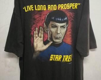 Vintage 1993 Star Trex live long and prosper t-shirt XL/XXL oversize