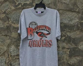 VERY RARE!!! Vintage 90s MBL Team  Baltimore Orioles T Shirt