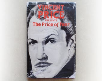 Vincent Price - The Price of Fear - horror vintage first hardback book - 1977