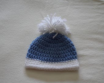 Baby Hat  Crochet Blue Baby Hat