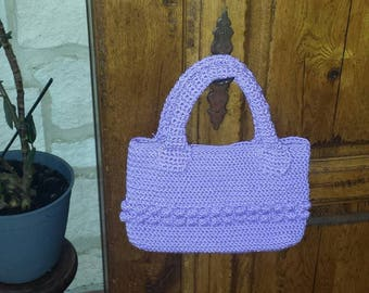 cotton crochet handbag