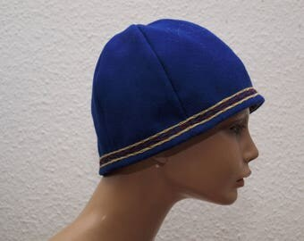 CAP, middle age, Viking, Rus, embroidered, Herringbone, Gr. 62, Wool, linen