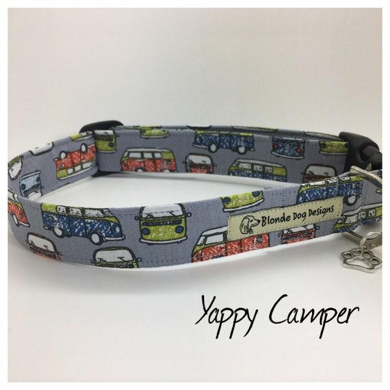 Campervan Dog Collar, or, Campervan Dog Lead, Yappy Camper, Camper Van Lead, Camper Van Collar, Luxury Dog Collar, Luxury Dog Lead.