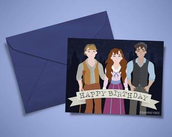 Newsies Disney musical broadway birthday card printable, print yourself, digital download
