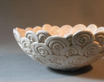 CERAMIC HANDMADE BOWL , Decorativ Modern Bowl , Ceramic Art , Ceramic Home Decoration , Fine Art Ceramic , Bowl , Pottery,