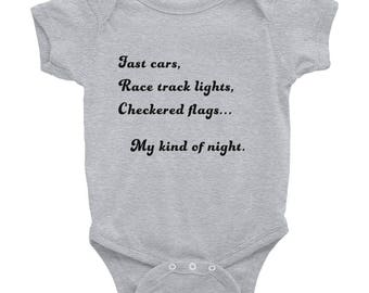 My Kind Of Night Infant onesie