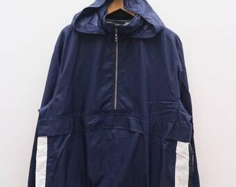 Vintage NIKE Sportswear Blue Hoodies Zipper Windbreaker Size XL