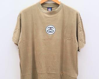 Vintage STUSSY Streetwear Hip Hop Green Tee T Shirt Size XL