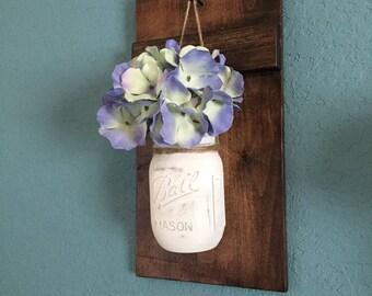 Wall Decor, Mason Jar Sconce, Mason Jar Decor, Farmhouse Decor, Rustic Home Decor, Home Decor, Wall Sconce, Mason Jar Wall Decor, Mason Jars