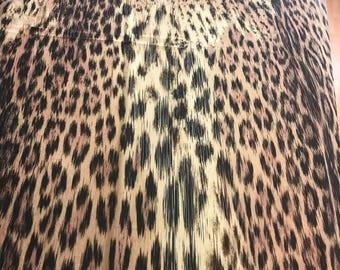 Silk animal print. Stretch silk fabric