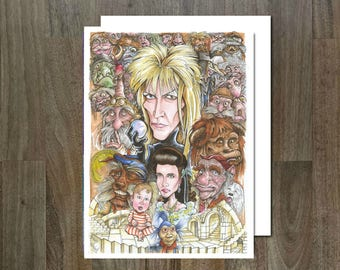 Labyrinth Greeting Card, Eco Friendly, Cult Caricatures