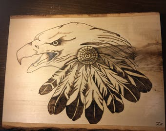 Indian Eagle With Feathers