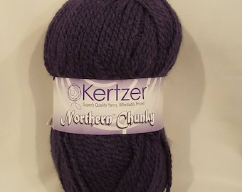 Northern Chunky Yarn Kertzer Exotic Purple One Skein Discontinued Yarn Crochet Yarn Knitting Yarn Craft Yarn
