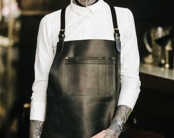 Work apron by Kruk Garage Bartender apron Barista apron Barbers apron Leather apron Mens apron Chef apron Birthday gift FREE PERSONALIZATION