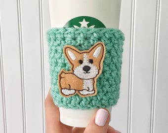 Corgi Cup Sleeve, Corgi Coffee Cozy, Corgi Gift