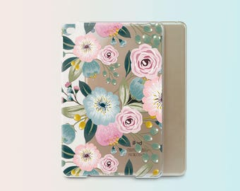 iPad Mini Case With Smart Cover Flowers iPad Pro 9.7 Case Floral iPad 2 iPad Mini 4 Case iPad Air Case Cover iPad Pro 9.7 Smart Cover i008