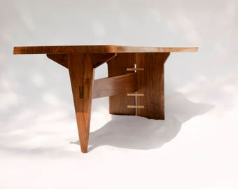 Coffee Table, Wood Coffee Table, Mid-Century Coffee Table, Modern Coffee Table, Walnut Coffee Table, Live Edge