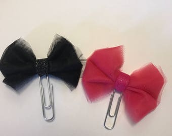 Tulle Bow Paperclip