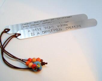 Personalized Bookmark, Engraved Bookmark, Metal Bookmark, Gifts for Readers, Beaded Bookmark, Beaded Bookmark