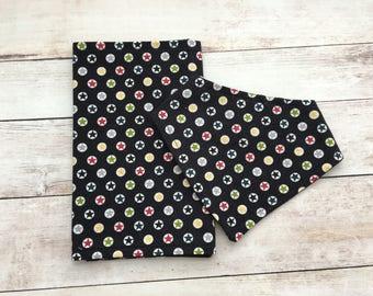 Star bandana bib and burp rag set - burp cloth - dribble bib - drool bib - baby shower gift - baby accessories - boy bibs