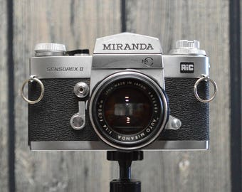 Vintage Miranda Sensorex II 35mm SLR film  with 50mm f/1.4 prime lens