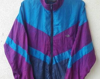 VINTAGE 90's Crocodile Sports Windbreaker Jacket