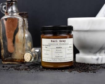 Earl Grey Scented Natural Soy Wax Candle