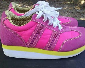 90s soda pink platform sneakers size 9 vintage