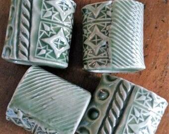Ceramic Napkin Rings set of 4