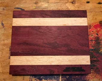 Purpleheart/Birdseye Maple Cutting Board