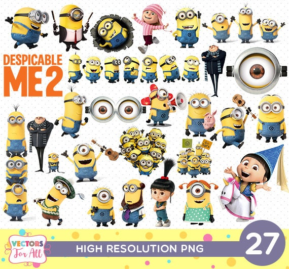despicable me minions png cutout printable minions png files. Black Bedroom Furniture Sets. Home Design Ideas