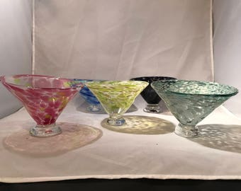 Hand Blown Glass- Free form bowls- 5 available- sold separately