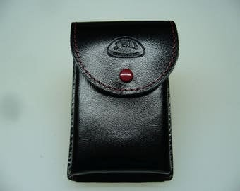 cigarette pack cigarette black calf leather cover case