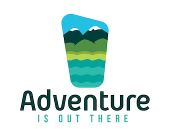 OOAK Premade Logo Design - Adventure is out there - Perfect for an adventure gear shop or a countryside accomodation business