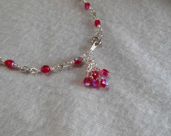 Red, Red , Red Ankle Bracelet