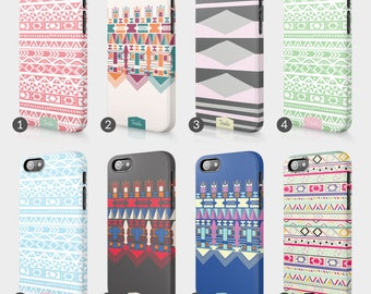 Aztec Ethnic Trend Tribal Phone Case For Iphone 3D Full Wrap Hard Cover Gift Fashion