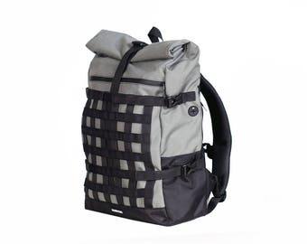 Cycling Backpack,Travel Backpack,Waterproof Backpack,Men's Backpack,Techwear Backpack,Roll Top Backpack,Cordura Backpack,Black Rucksack